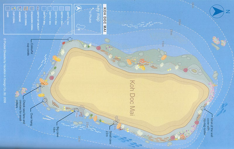 Koh Doc Mai Dive Site Map
