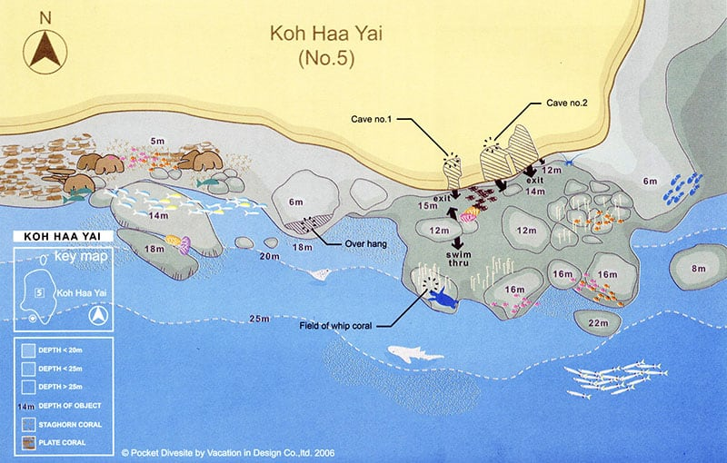 Koh Haa Yai Dive Site Map