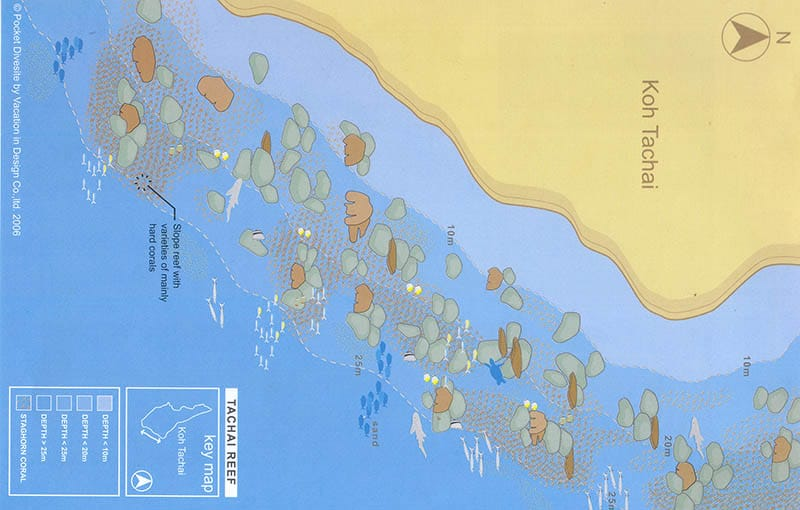Koh Tachai Reef Dive Site Map