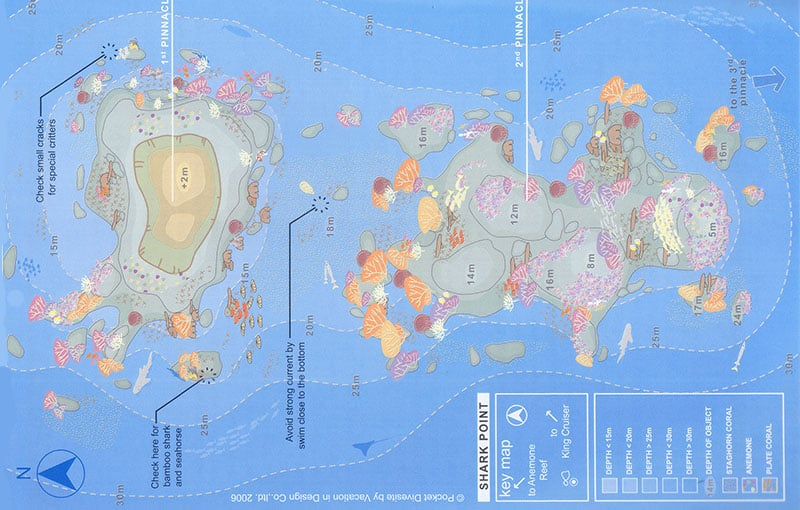 Shark Point Dive Site Map